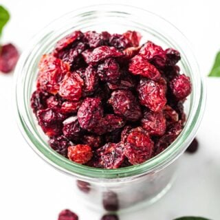 sugar free dried cranberries in a pot