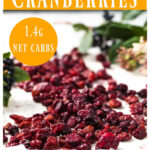 dried cranberries on a baking sheet