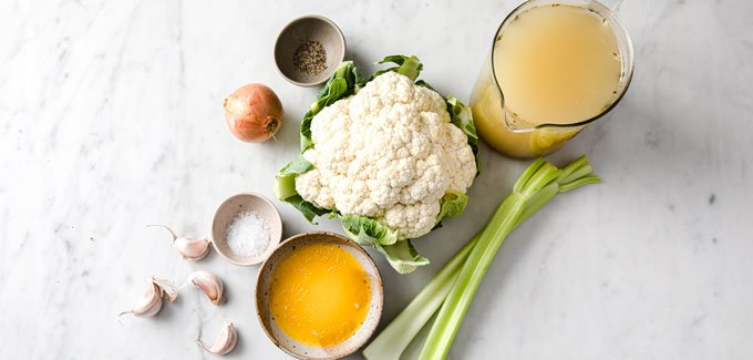 ingredients to make cauliflower soup