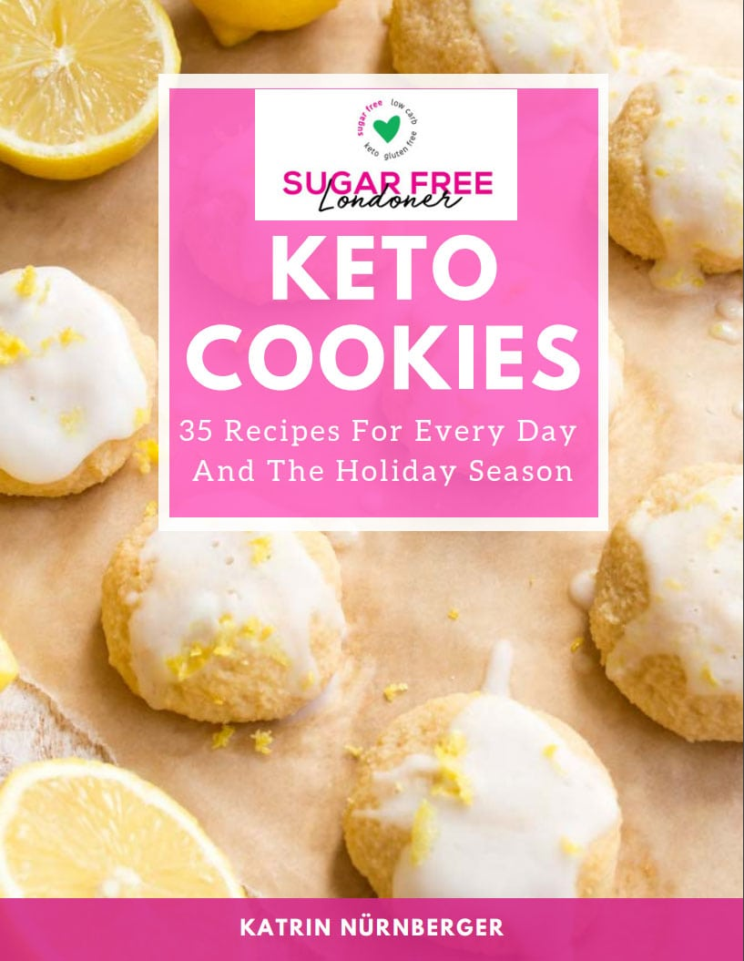 cover of the keto cookies cookbook