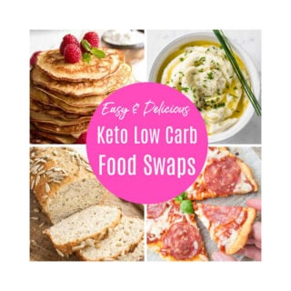 s collage of 4 low carb recipes