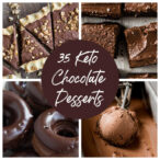 a collage of 4 keto chocolate desserts