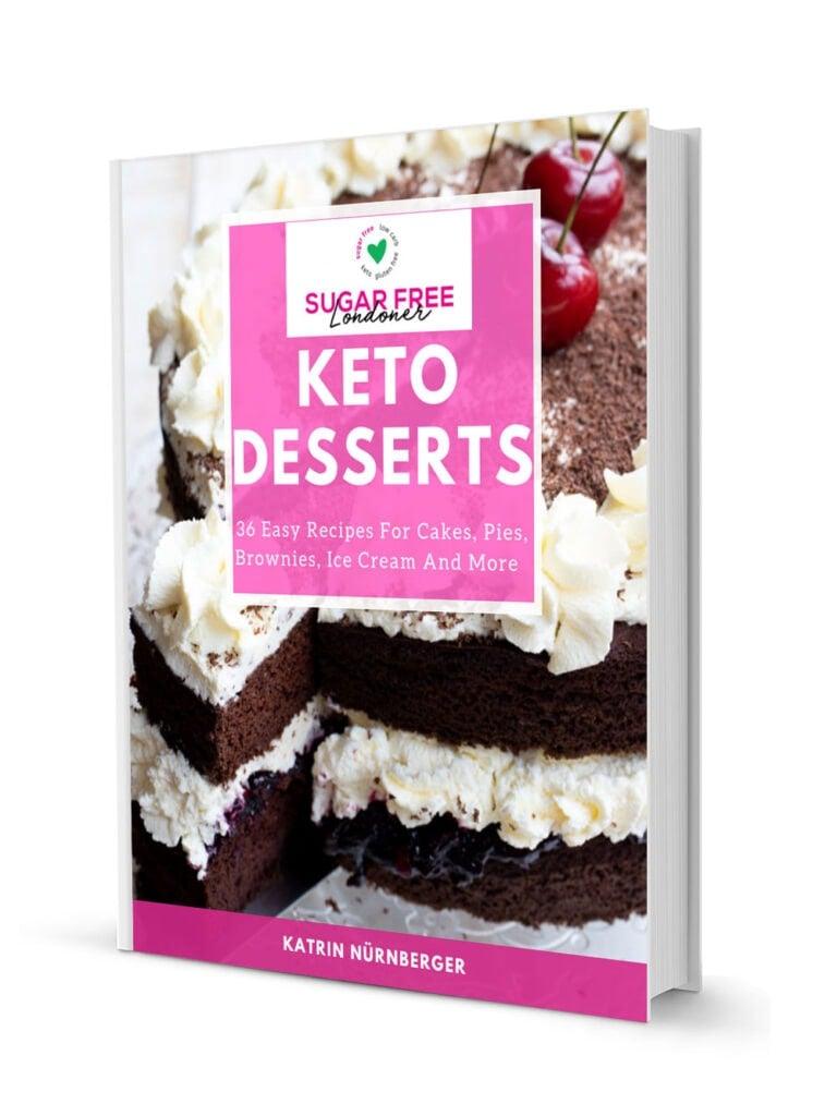 3d mockup of the keto desserts ebook