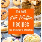 a selection of 4 keto muffin recipes