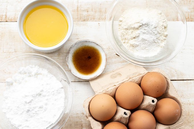 eggs, coconut flour and all other ingredients to make this recipe