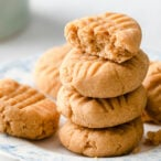 a stack of coconut flour peanut butter cookies