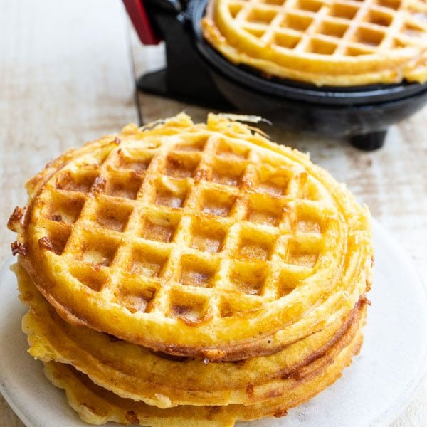 a stack of chaffles