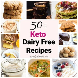 a collage of keto dairy free recipes