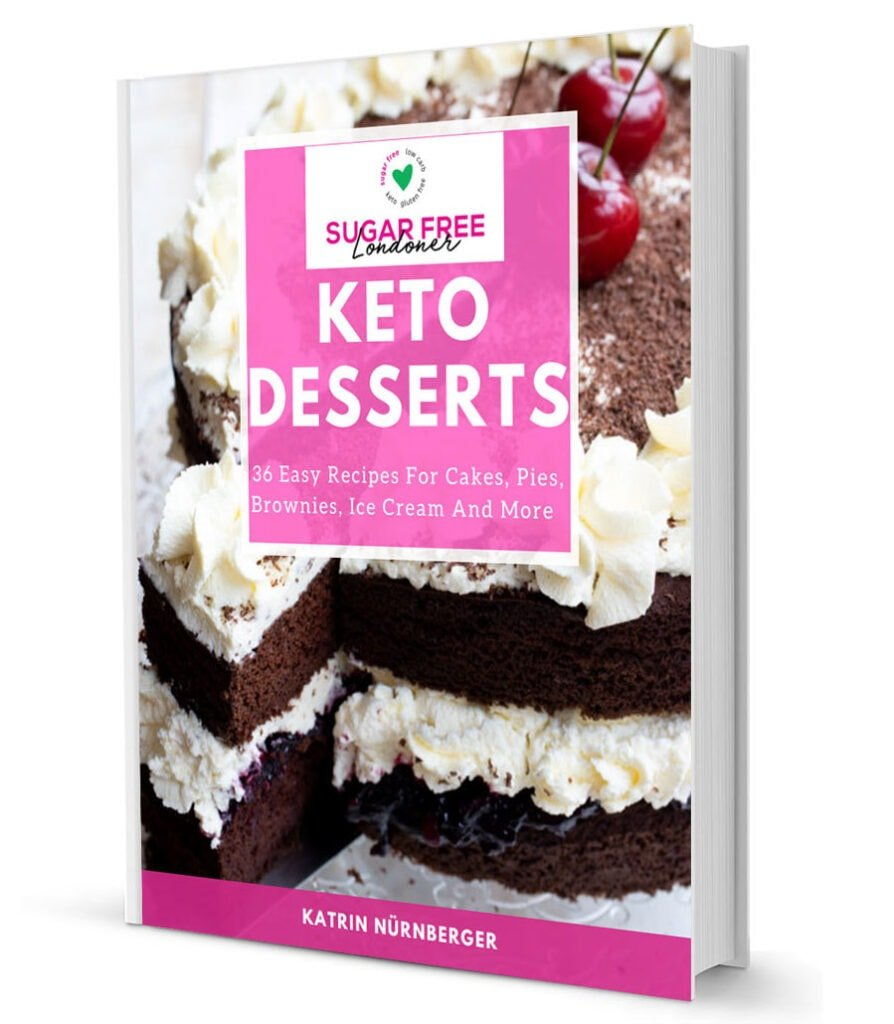 3d cover mockup of the keto desserts ebook
