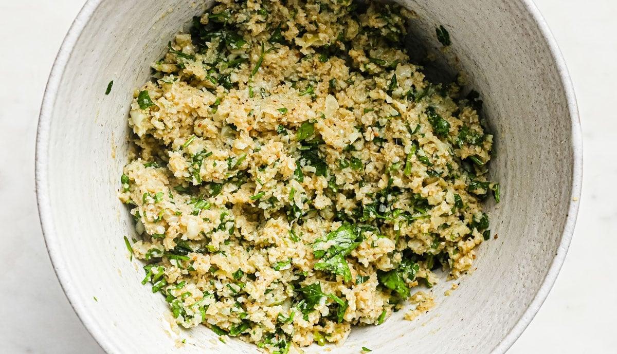 falafel batter in a bowl