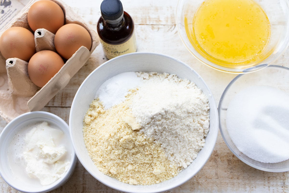 ingredients for keto cupcakes