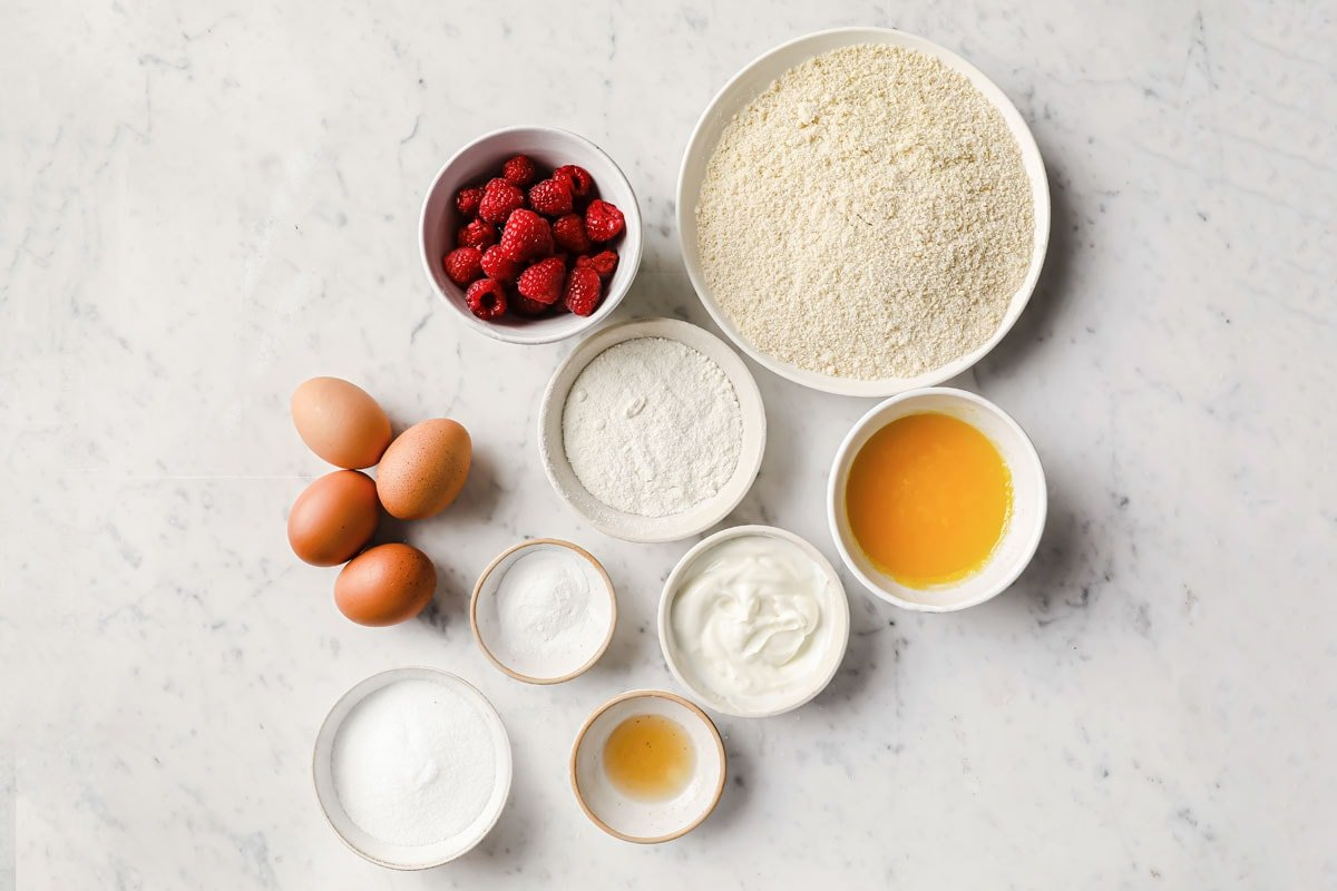 ingredients for this recipe measured into bowls