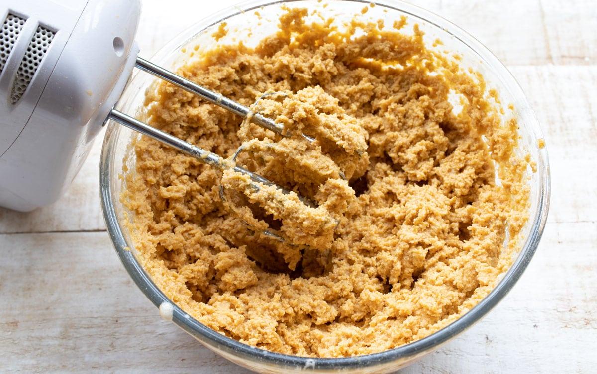 pumpkin bread batter in a bowl