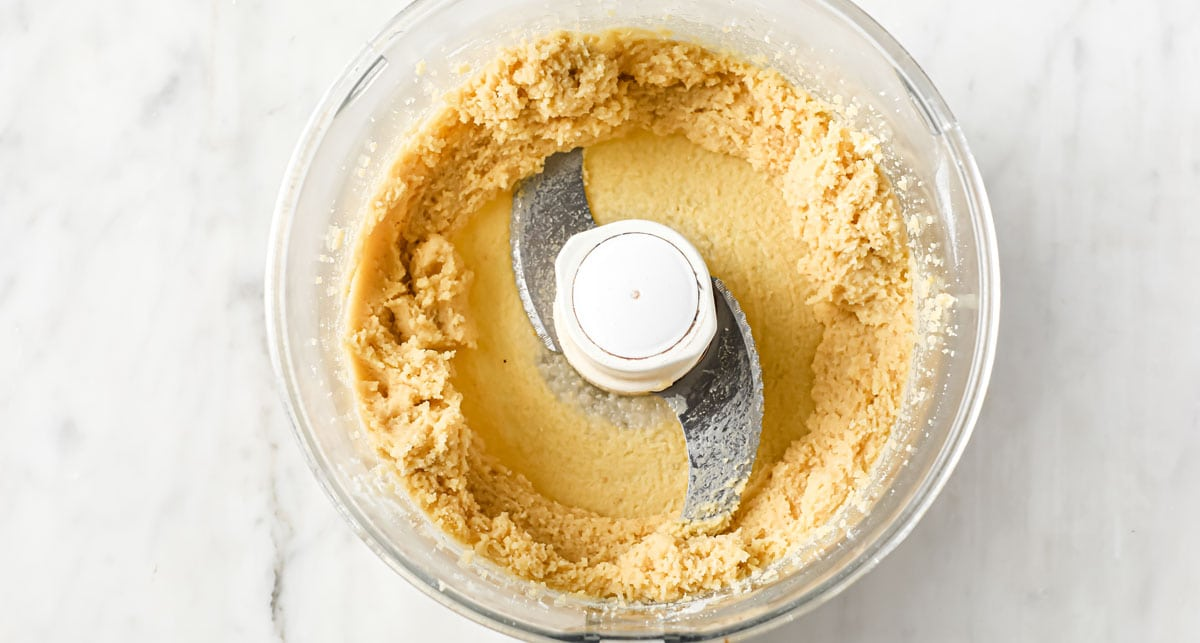 pastry dough in a food processor bowl