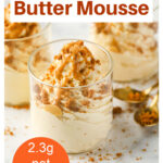 a dessert glass with peanut butter mousse
