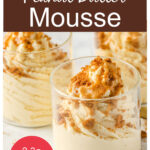 a pinterest pin collage with glasses of keto peanut butter mousse