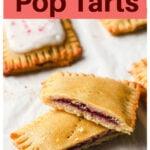 raspberry pop tart sliced open