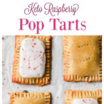 pinterest collage with 2 images of pop tarts