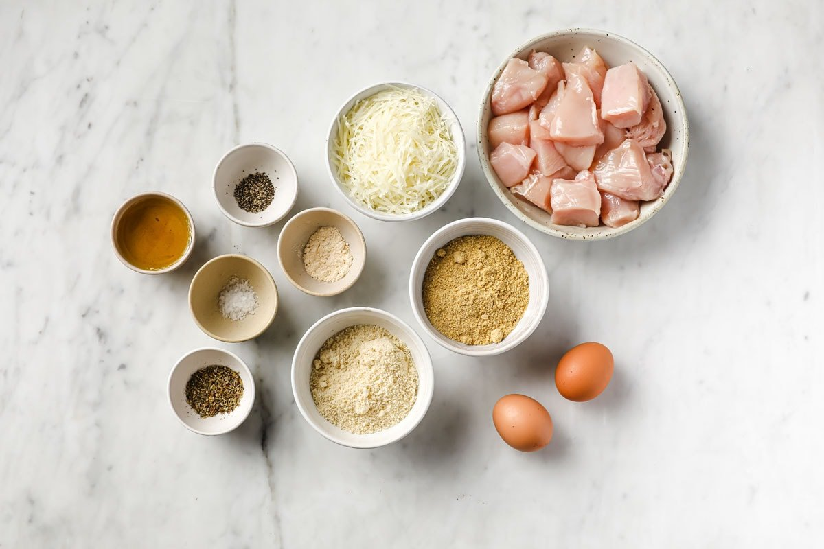 ingredients to make this recipe measured into bowls