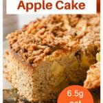 a slice of apple cake