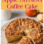 an apple streusel cake
