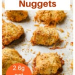 a pinterest pin collage with chicken nuggets