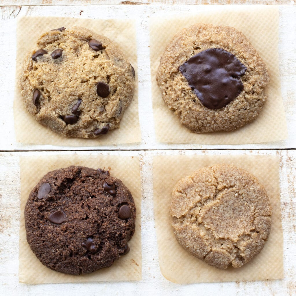 4 different keto microwave cookies