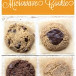 four different single serve cookies