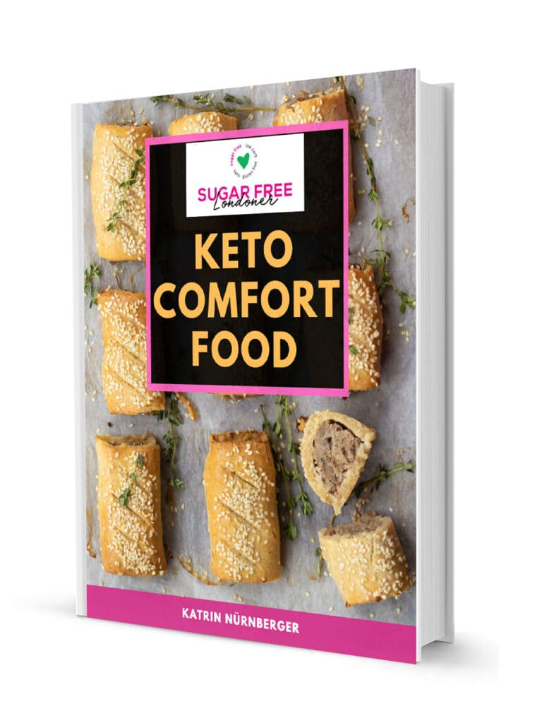 3d cover of the keto comfort food ebook
