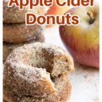 apple cider donuts and an apple