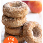 a stack of apple cider donuts
